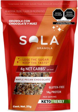 granola keto sabor nuez y arce de SOLA