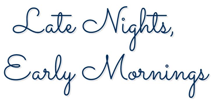 Late Nights, Early Mornings logo