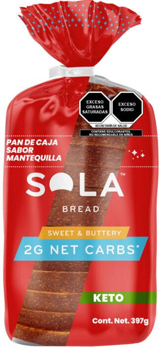 pan de caja keto sabor mantequilla de SOLA